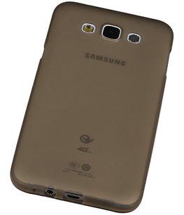 "Hoesje voor Samsung Galaxy E5 TPU Transparant Grijs â"" Back Case Bumper Hoes Cover"