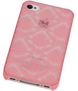 Hoesje voor Apple iPhone 4/4S - Brocant Hardcase Roze