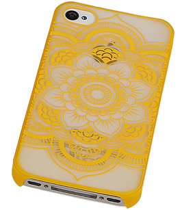 Hoesje voor Apple iPhone 4/4S - Roma Hardcase Geel