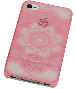 Hoesje voor Apple iPhone 4/4S - Roma Hardcase Roze