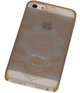 Hoesje voor Apple iPhone 5/5S - Roma Hardcase Goud