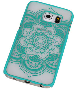 Hoesje voor Samsung Galaxy S6 edge - Roma Hardcase Turquoise