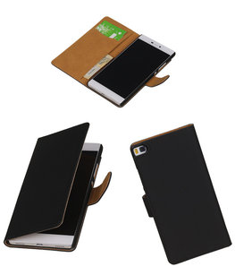 Hoesje voor Huawei P8 Zwart Booktype