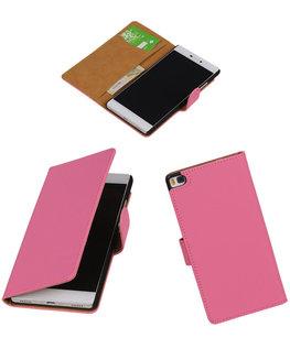 Hoesje voor Huawei P8 Roze Booktype