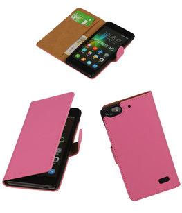 Hoesje voor Huawei Honor 4C Booktype Roze