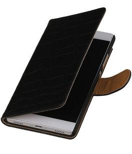 Hoesje voor Huawei Honor 4C Booktype Krokodil Zwart