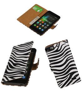 Hoesje voor Huawei Honor 4C Booktype Zebra
