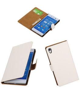 Hoesje voor Sony Xperia Z4/Z3 Plus Booktype Wallet Wit