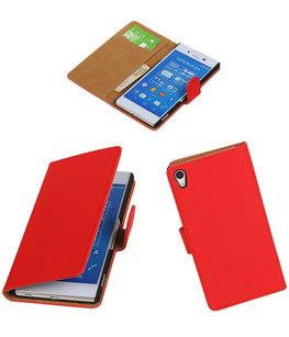Hoesje voor Sony Xperia Z4/Z3 Plus Booktype Wallet Rood