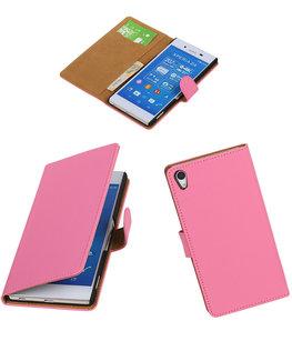 Hoesje voor Sony Xperia Z4/Z3 Plus Booktype Wallet Roze