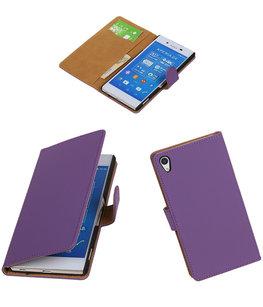 Hoesje voor Sony Xperia Z4/Z3 Plus Booktype Wallet Paars