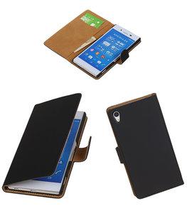Hoesje voor Sony Xperia Z4/Z3 Plus Booktype Wallet Zwart