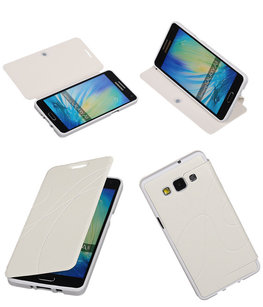 Bestcases Wit TPU Booktype Motief Hoesje voor Samsung Galaxy A5 2015