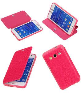 Bestcases Roze TPU Booktype Motief Hoesje voor Samsung Galaxy Core 2