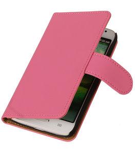Hoesje voor HTC One S Effen Booktype Wallet Roze