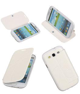 Bestcases Wit TPU Booktype Motief Hoesje voor Samsung Galaxy S3