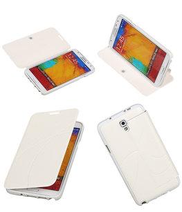 Bestcases Wit TPU Booktype Motief Hoesje voor Samsung Galaxy Note 3 Neo