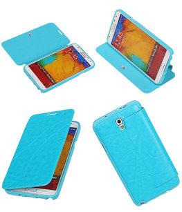 Bestcases Turquoise TPU Booktype Motief Hoesje voor Samsung Galaxy Note 3 Neo