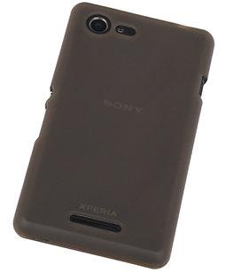 Hoesje voor Sony Xperia E3 TPU Transparant Grijs
