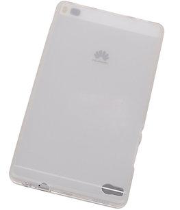 Hoesje voor Huawei P8 TPU Transparant Wit