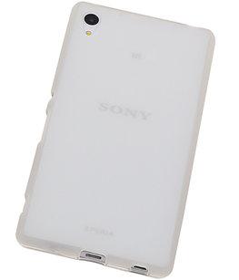 Hoesje voor Sony Xperia Z4/Z3 Plus TPU Transparant Wit