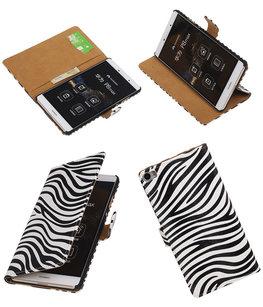 Hoesje voor Huawei P8 Max Zebra Booktype Wallet