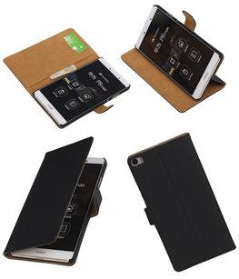 Hoesje voor Huawei P8 Max Effen Booktype Wallet Zwart