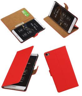 Hoesje voor Huawei P8 Max Effen Booktype Wallet Rood