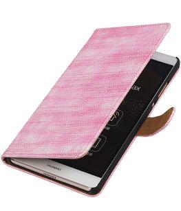 Hoesje voor Sony Xperia M4 Aqua Booktype Wallet Mini Slang Roze