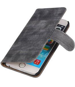 Hoesje voor Sony Xperia Z3 Compact Booktype Wallet Mini Slang Grijs