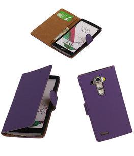 Hoesje voor LG G4 Effen Booktype Wallet Paars
