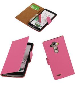 Hoesje voor LG G4 Effen Booktype Wallet Roze