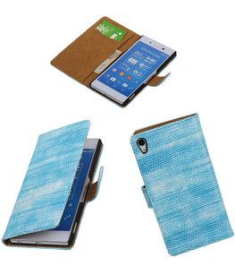 Hoesje voor Sony Xperia Z4/Z3+ Booktype Wallet Mini Slang Blauw