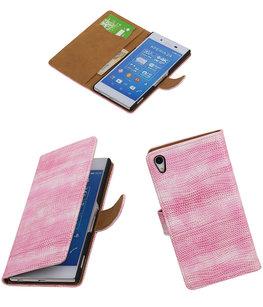 Hoesje voor Sony Xperia Z4/Z3+ Booktype Wallet Mini Slang Roze