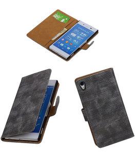 Hoesje voor Sony Xperia Z4/Z3+ Booktype Wallet Mini Slang Grijs