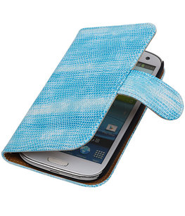 Hoesje voor Samsung Galaxy S3 Bookstyle - Mini Slang Turquoise