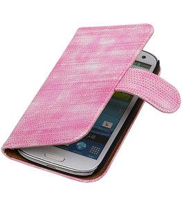 Hoesje voor Samsung Galaxy S3 Bookstyle - Mini Slang Roze