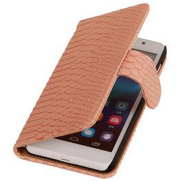 Hoesje voor Huawei Ascend G6 4G Booktype Wallet Slang Roze