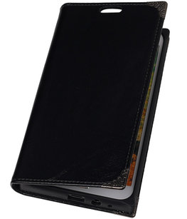 Hoesje voor Samsung Galaxy E7 - Zwart TPU Map Bookstyle