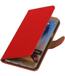 Effen Egaal Rood - Hoesje voor Samsung Galaxy S6 edge Plus