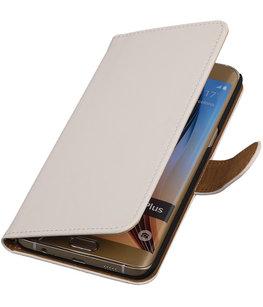 Effen Egaal Wit - Hoesje voor Samsung Galaxy S6 edge Plus