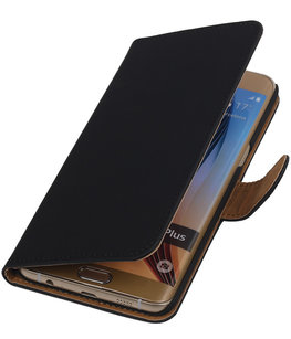 Effen Egaal Zwart - Hoesje voor Samsung Galaxy S6 edge Plus