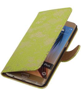 Lace/Kant Groen - Hoesje voor Samsung Galaxy S6 edge Plus