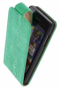 Groen Ribbel Classic flip case cover voor Hoesje voor HTC Desire 700