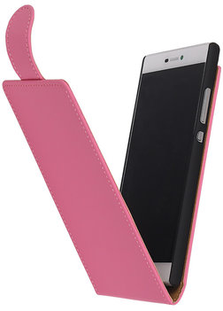 Hoesje voor HTC Windows Phone 8S - Roze Effen Classic Flipcase