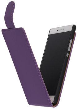 Hoesje voor Nokia Lumia 620 - Paars Effen Classic Flipcase