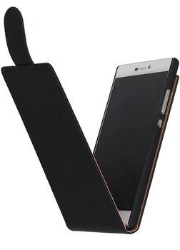 Zwart Effen Classic Flip case voor Hoesje voor Nokia Lumia 720