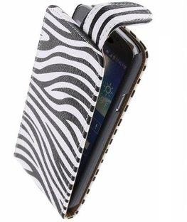 Hoesje voor Huawei Ascend G300 - Zebra Classic Flipcase