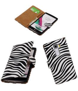 Hoesje voor LG G4 Zebra Booktype Wallet