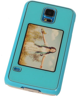 Fotolijst Backcover Hardcase Galaxy S5 Neo Blauw